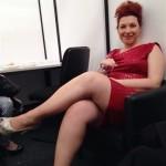 Daria Biancardi indossa un abito di Katia Montagna