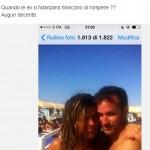 Il commento di Natale Giunta sul suo profilo Fb alla foto dell'ex