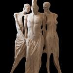 Salvatore Rizzuti, Il Canto delle Sirene 2013 scultura in legno di cipresso 18x236x70 cm