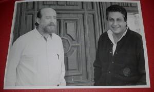 Il compianto attore Giorgio Li Bassi con Raffele Sabato