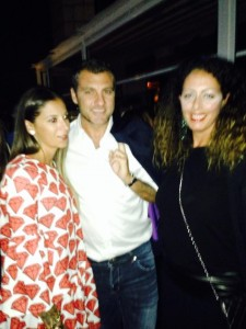 Christian Vieri al party di Gaelle Bonheure con Marika Messina