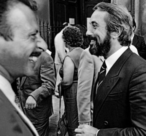 Da sinistra: Paolo Borsellino e Giovanni Falcone