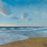 Onde al tramonto, oil on wood panel, cm 70x50, 2014_low