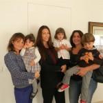 Sabrina Cannella con Bianca Meola, Piera Meola ed Eleonora Semilia, Emanuela Cannella e Francesco Ciriminna