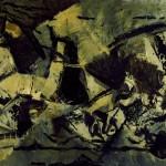 Paolo Schiavocampo Processione 62, 1964 Olio su tela, 69 x 105 cm Palermo, collezione Studio 71