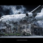 Teatro Massimo colpito da un aereo, Piazza Verdi, Palermo