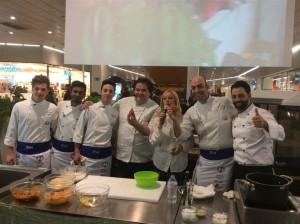 Gennaro Esposito, Seby Sorbello e la squadra di chef con l'arancino