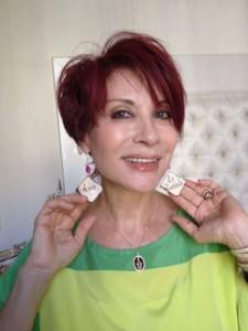 Alda Deusanio indossa Siria Eco design di Nunzia Ogliormino