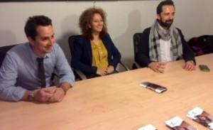 La conferenza stampa da Moltivolti da sx Angelo Scuzzarella, Marina Accomando, Luciano Accomando
