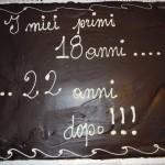 La torta di Gabriele 18+22 anni
