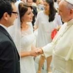 William Anselmo di Mediagol incontra Papa Francesco, dress code: l'abito nuziale