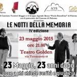 Al Teatro Golden di Palermo il ricordo delle vittime, a 23 anni dalla strage di Capaci