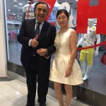 Il sindaco Leoluca Orlando e Angelica Huang