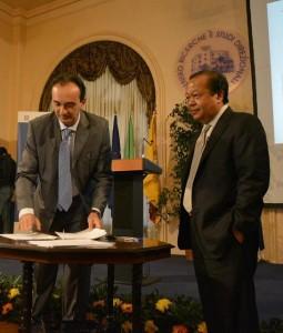 Da sinistra: Piero Scutari e Prem Rawat