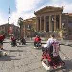 Le wheelchair in piazza per l'Unione italiana lotta alla distrofia muscolare