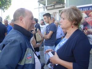 A destra la consigliera Giusi Scafidi