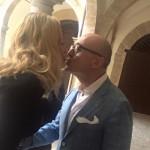 Valeria Marini ed Alfonso Signorini a Palermo per Panorama d'Italia