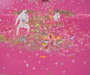 Marc Zanghi, Sibermonkey, vernici su tela, cm121x156,2015