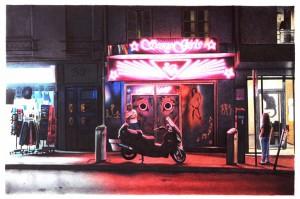 Paolo Amico, Sexygirls, penne a sfera su cartoncino, cm30x40, 2013