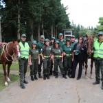 """""""Giacche verdi"""": volontari a cavallo per rendere più sicuri i parchi comunali"""