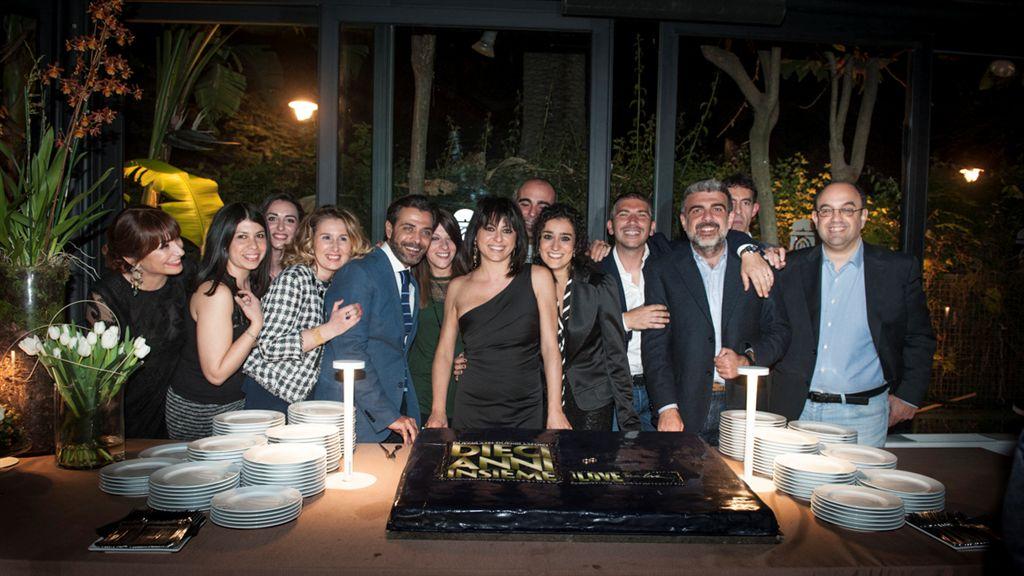 Donata Agnello al centro della foto con la squadra di I Love Sicilia