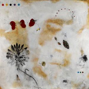 Flower V-2012-tecnica mista su tela-cm170x170