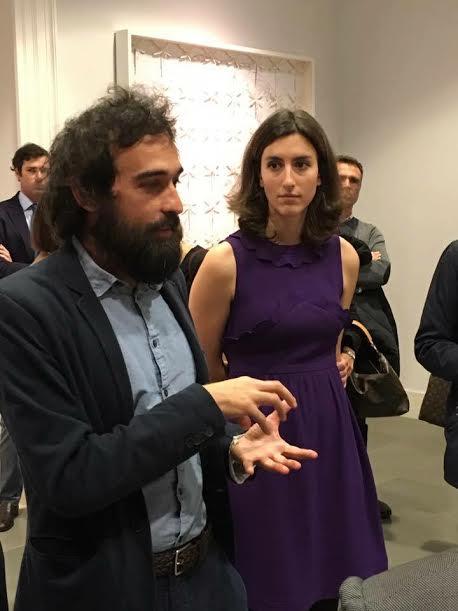Pietro Ruffo con Allegra Puglisi Cosentino, presidente della Fondazione omonima