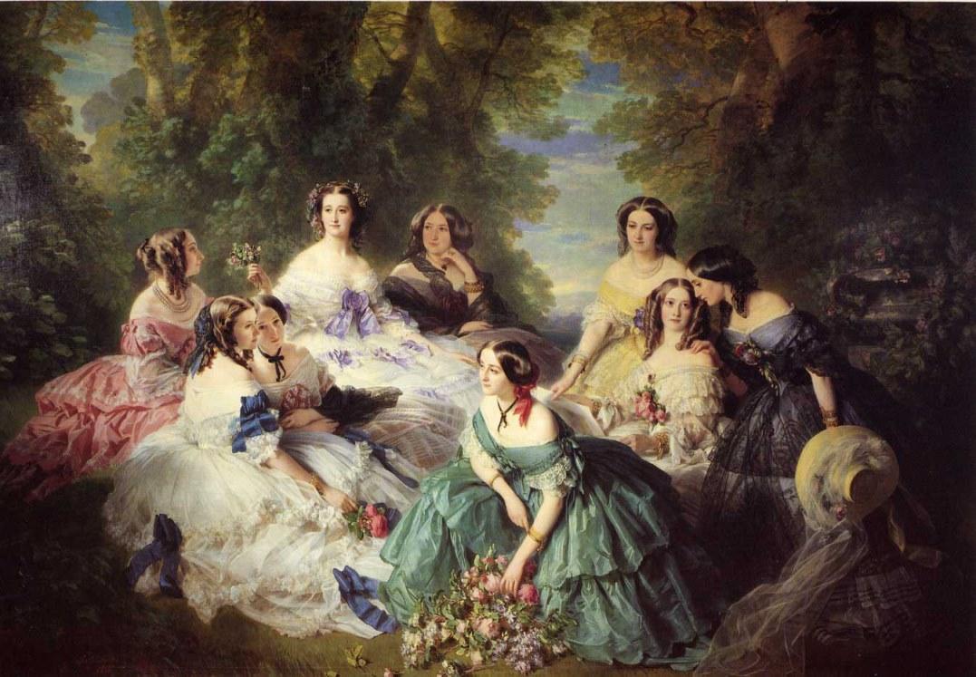 Winterhalter - Ritratto dell'imperatrice Eugenia con le sue dame di corte