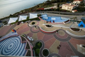 Panorama di Castel di Tusa dove sarà posizionato il murales Marevigliosamente Tusa