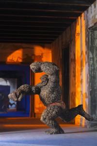 Domenico Pellegrino - Uomo Pietra/Saturno 2015 scultura stucco policromo acrilico e pittura a olio polychrome stucco sculpture acrylic and oil painting cm 200x150x100 ph Alessandro di Giugno