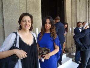 L'assessore al Comune di Palermo Agnese Ciulla e la wedding planner Maria Macchiarella