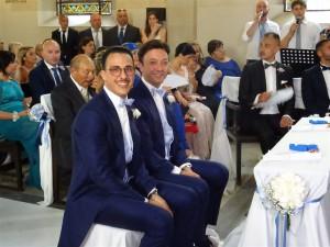 Giovanni Bonanno e Roberto Sucameli sposi nella chiesa valdese di Palermo