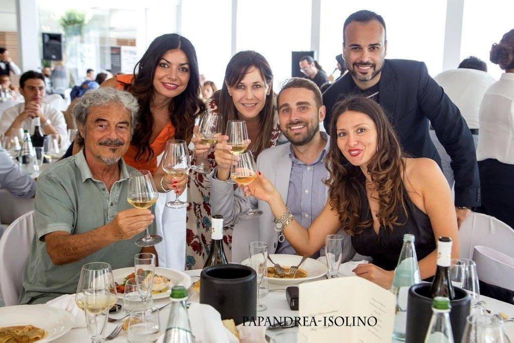 Massimo Dapporto, Marika Micalizzi e, Gabriella Germani, Massimiliano Cavaleri, Nadia La Malfa presso Santa Marina Salina.