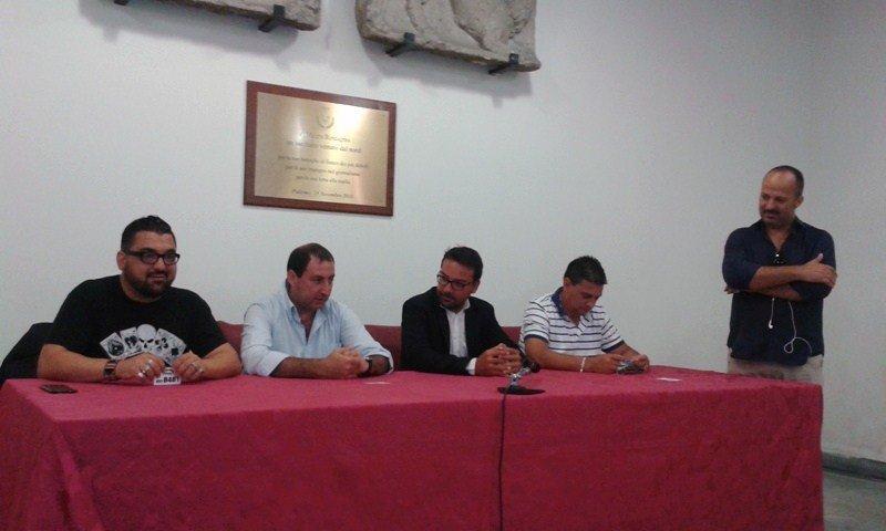 Un momento della conferenza stampa di presentazione del concerto