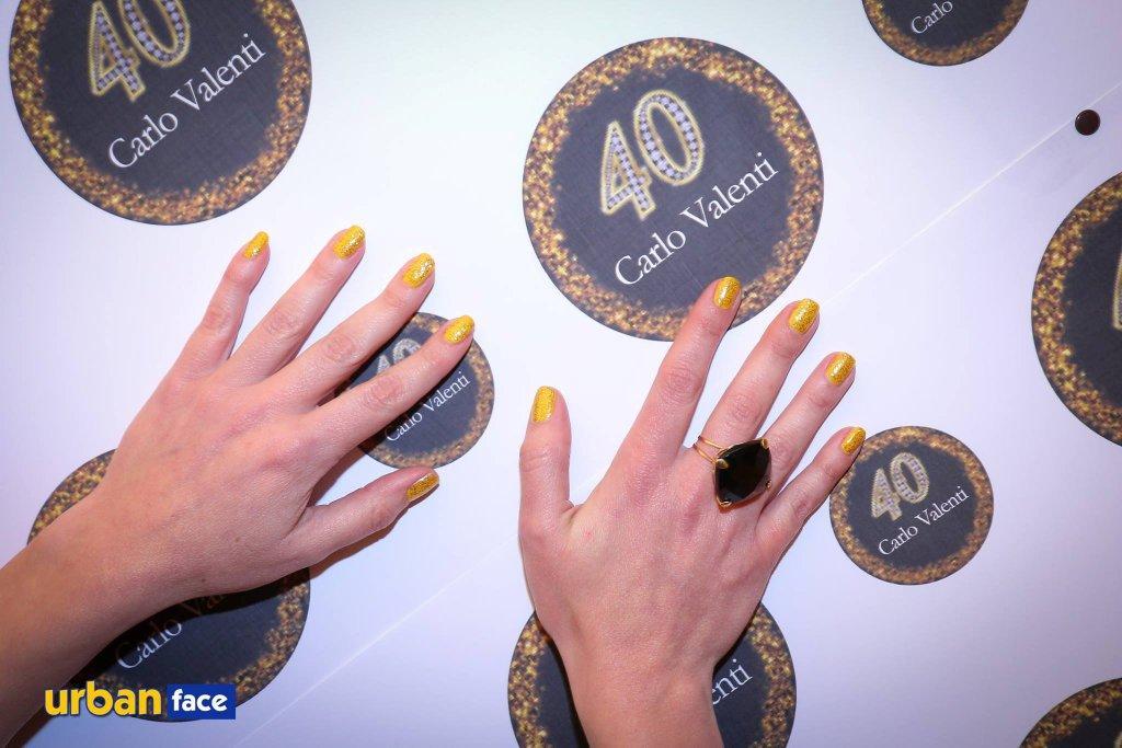 Glitter & gold per i 40 anni di Carlo Valenti