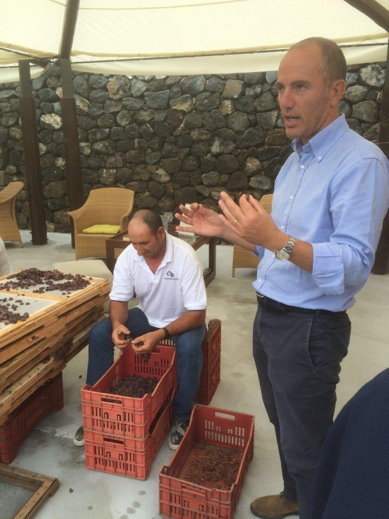 Antonio Rallo presenta lo sgrappolamento uva passa