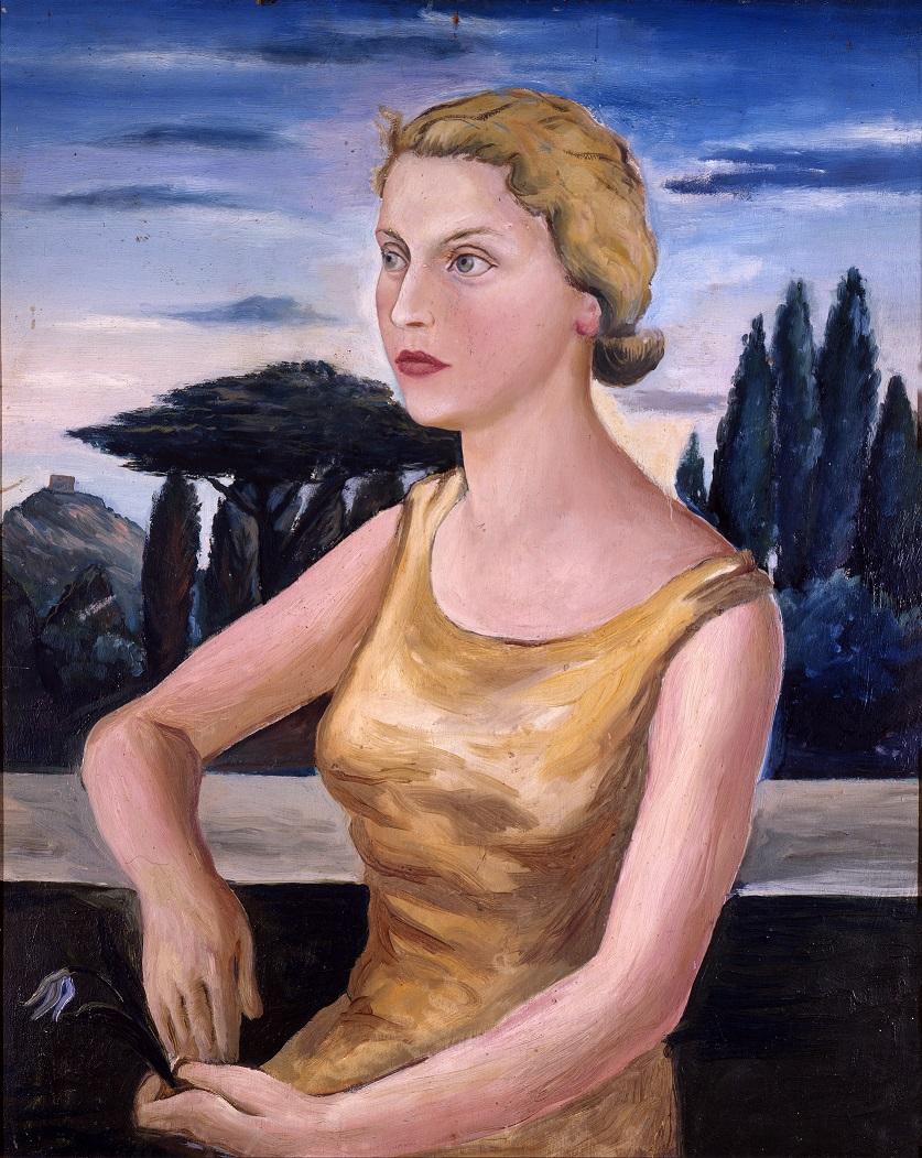 RENATO GUTTUSO, Ritratto di Topazia Alliata, 1931-32, olio su tavola, coll. Eredi Topazia Alliata