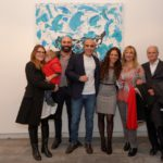 sinistra, Viviana e Luca Lo Dico con Francesco, Sergio Caminita, Ambra, Alba e Franco Lo Dico