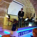 Filippo Marsala sul palco di Cinematocasa