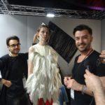 Leo Libardi dello staff di The Club, la modella Carol e Tony Pellegrino
