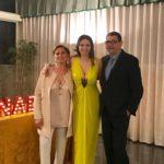 Nadia La Malfa con i genitori Anna Maria Russo e Giovanni La Malfa
