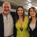 Nadia La Malfa con Manfredi e Paola Barbera