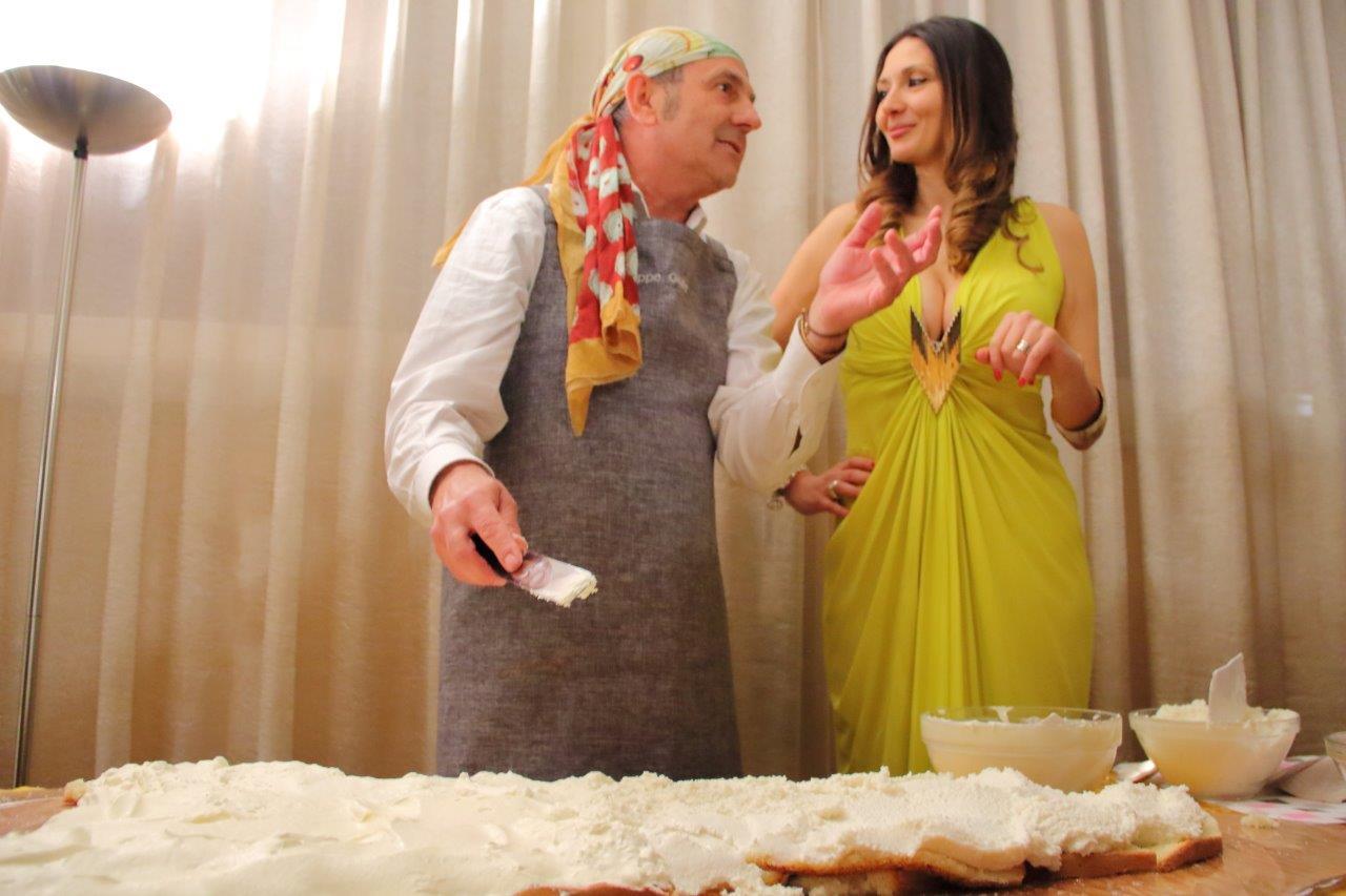 Peppe Giuffrè e Nadia La Malfa e la cassata