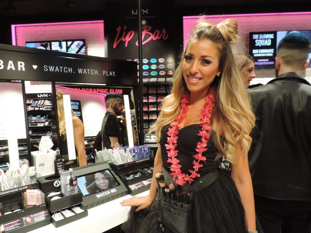 Mariangela Cardia, responsabile dello store Nyx di Milano