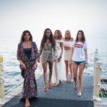 Rosi De Simone, Yara Mosquito e Dasililla Pecorella Oliveira ed altre modelle al Costa Ponente ph Gianni Geraci