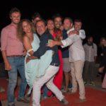 Il fotografo Pucci Scafidi durante un momento della festa