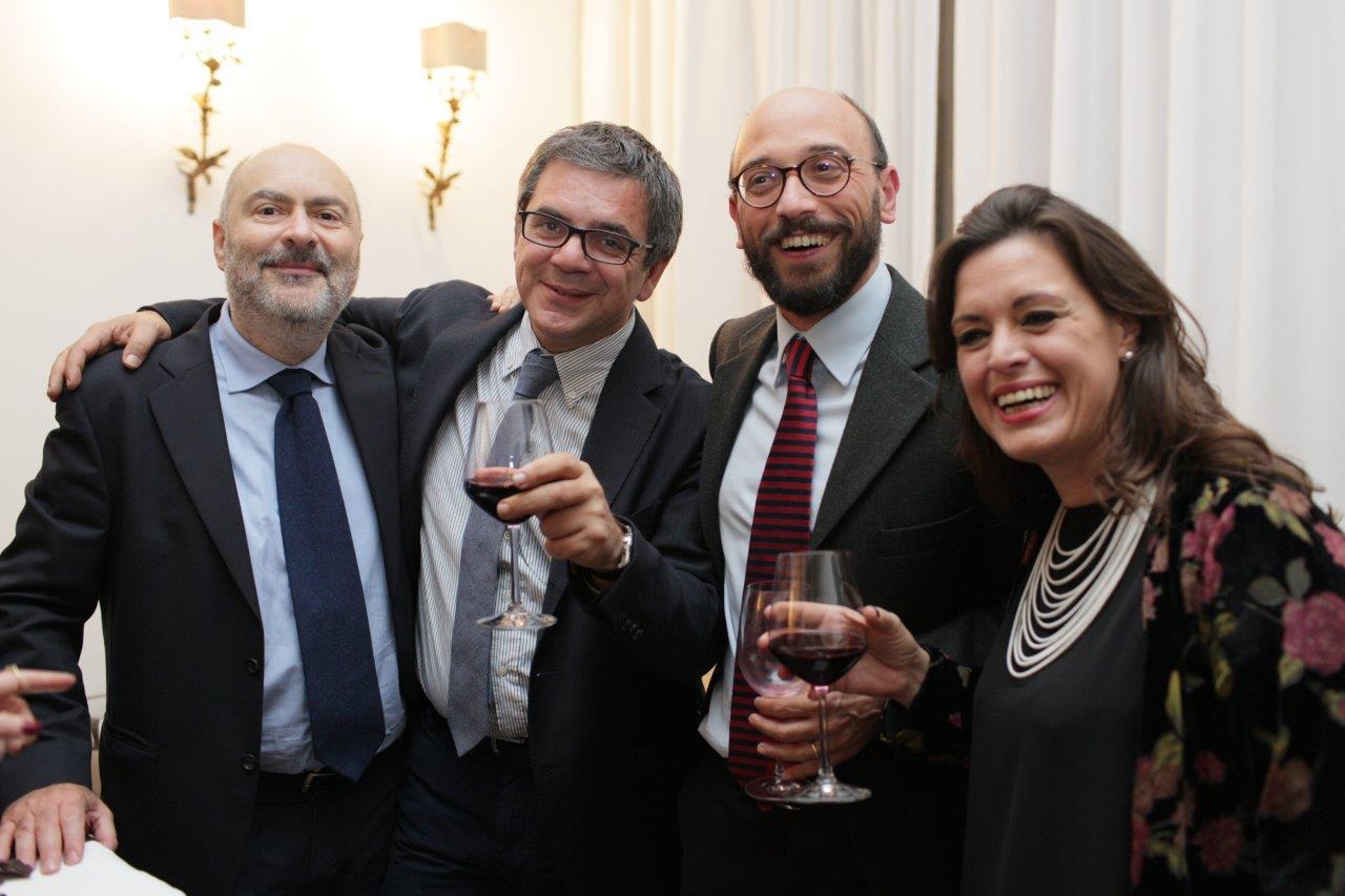 Giovanni Franco, Nino Amadore, Nino Giordano e Paola Marino