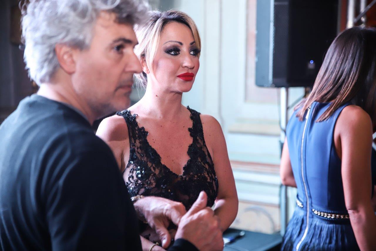 Il regista del Black Carpet Luca Lo Bosco e l'organizzatrice Silvia Spoto di Sis Dandify
