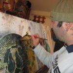 il pittore folk Roberto Cavallaro