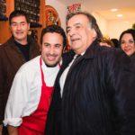 Lo chef Natale Giunta con il sindaco Leoluca Orlando